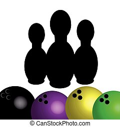 Bowling symbol isolated on white background. Vector illustration.