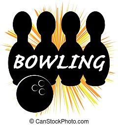 Bowling symbol isolated on white background