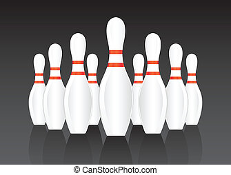 Bowling vector background for