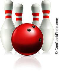 bowling, vettore, illustrazione