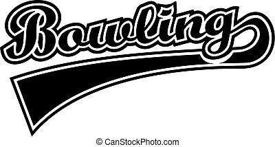 Bowling Word Retro