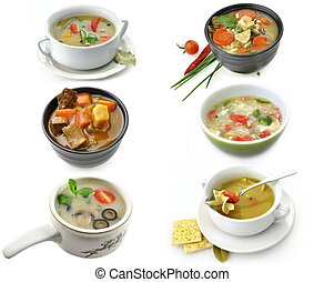 Bowls Of Healthy Soup