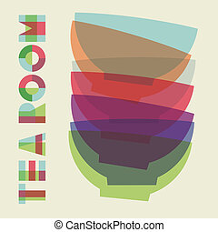 Bowls pile composition in merging color