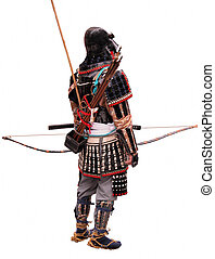 Bowman - Japanese bowman wearing traditional war...