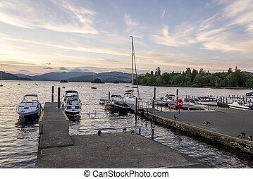 Bowness on Windermere Lake District Cumbria England UK