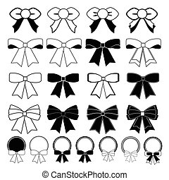 Bows and banners vector