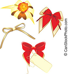 Bows isolated on the white