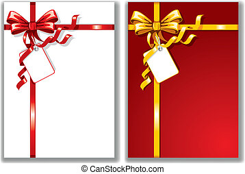 Bows with greeting cards