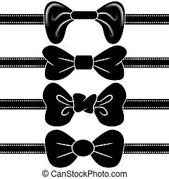 An image of a black bowtie set.