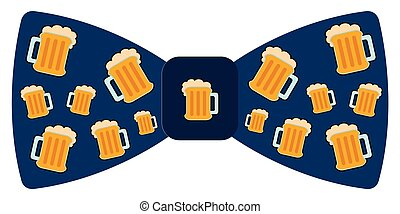 Bowtie with beer icons