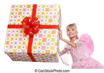 box., ängel, gåva