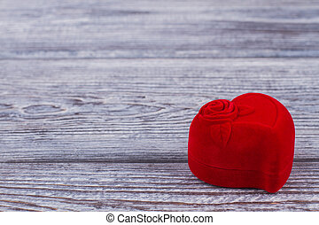 box., ビロード, ロマンチック, 贈り物, 背景, 赤