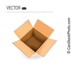 box., ベクトル, illustration., ボール紙