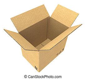 box., 開いた, ボール紙