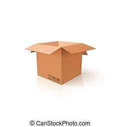 box., 開いた, package., mockup, product., テンプレート, きれいにしなさい, カートン, あなたの, 3d
