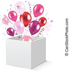 Box And Balloons
