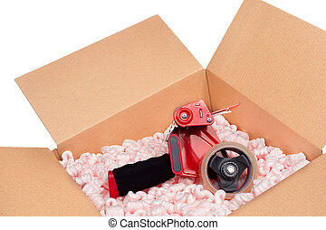Box and tape gun
