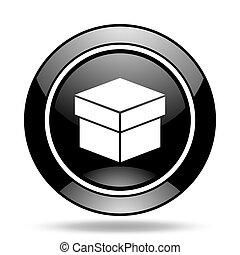 box black glossy icon