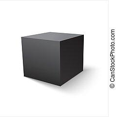 Box black icon. Template for your design. Vector illustration.