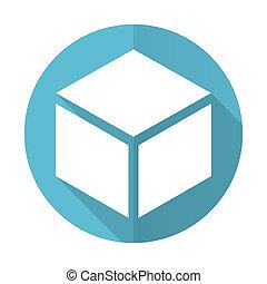 box blue flat icon