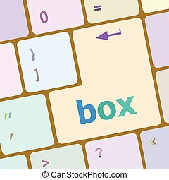 box button on the keyboard - holiday concept vector illustration