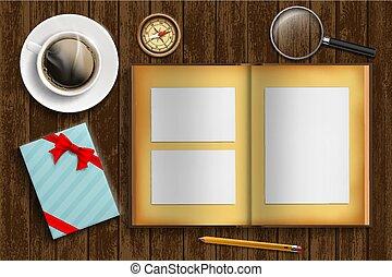 box., cadeau, illustration, fetes, vecteur, fond