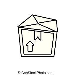 box carton isolated icon