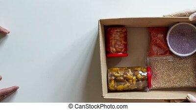 box., concept., arrêt, aide, donations, ou, boîte, divers, ...