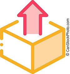 Box Container With Arrow Agile Element Vector Icon Thin...