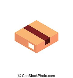 box correspondence postal mail isometric