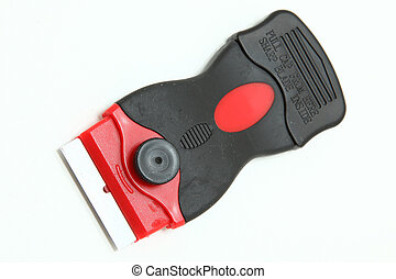Box Cutter - Red and black box cutter with blade.