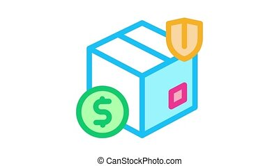 box delivery insurance Icon Animation