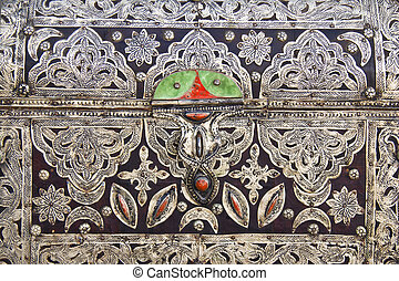 Box - Detail from the traditional arabic jewellery box