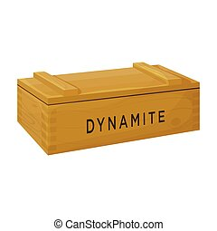 Box dynamite vector icon. Cartoon vector icon isolated on white background box dynamite.
