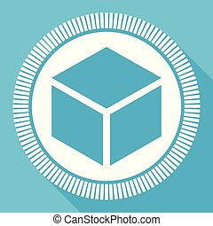 box, editable, byt, vektor, ikona, čtverec, pavučina, knoflík, konzervativní, počítač, a, smartphone, obklad, firma, do, eps, 10