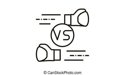 Box Fight Battle Icon Animation