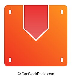 Box flat icon. Cargo color icons in trendy flat style. Package gradient style design, designed for web and app. Eps 10.