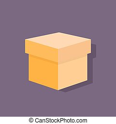 box flat icons design vector shadow color object