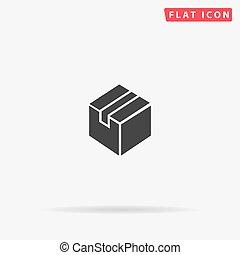Box flat vector icon