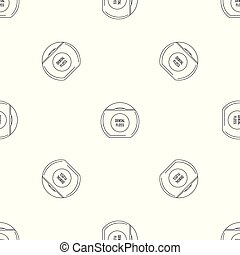 Box floss pattern seamless vector
