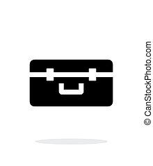 Box for quadcopter simple icon on white background.