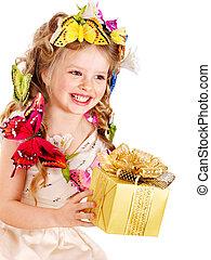 box., gåva, barn
