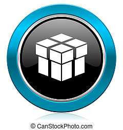 box glossy icon
