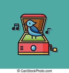 box, Hračka, Hudba, vektor, ikona