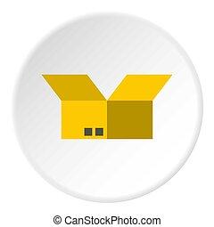 Box icon, flat style