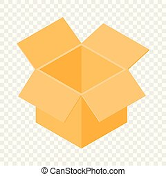 Box icon, isometric 3d style