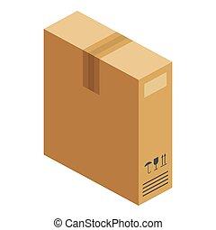 Box icon, isometric style