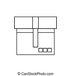 Box icon, outline style