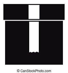Box icon, simple style