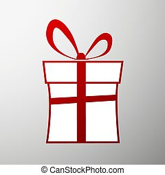 box., illustration., cadeau, stockage